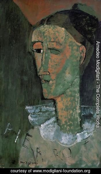Amedeo Modigliani - Pierrot