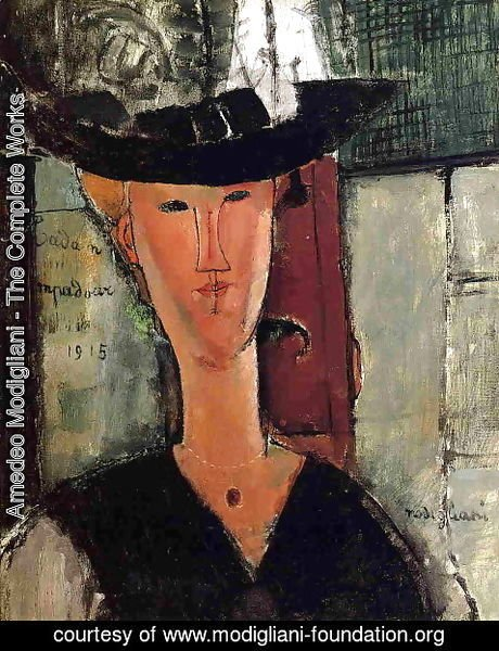 Amedeo Modigliani - Madam Pompadour   Portrait Of Beatrice Hastings