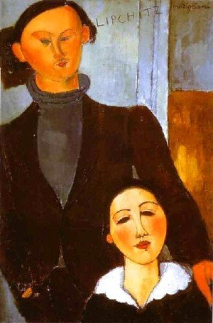 Amedeo Modigliani - The Sculptor Jacques Lipchitz And His Wife Berthe Lipchitz