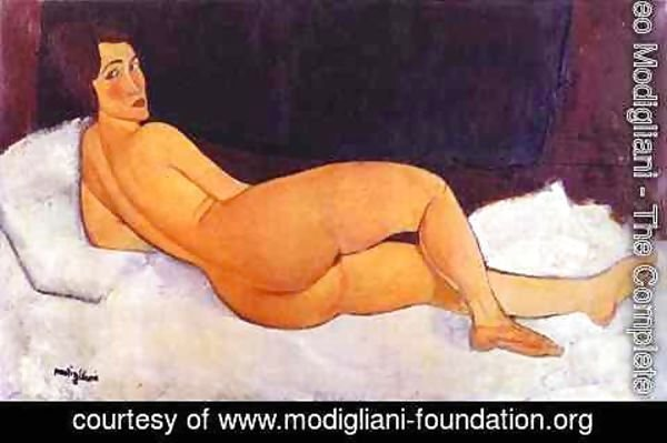 Amedeo Modigliani - Nude Looking Over Her Right Shoulder