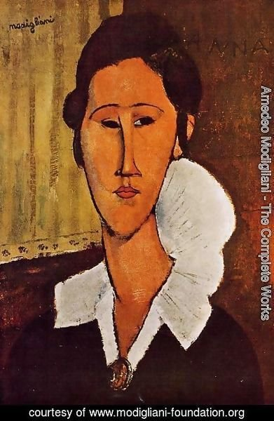 Amedeo Modigliani - Portrait Of Anna Zborovska