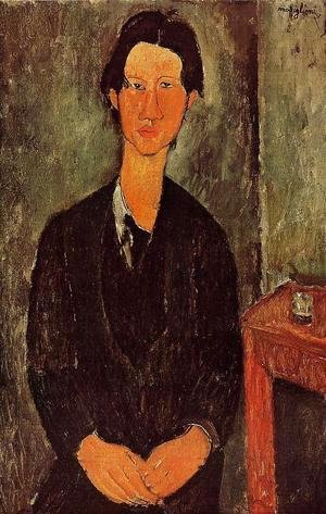 Amedeo Modigliani - Portrait Of Chaim Soutine Seated At A Table