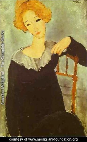 Amedeo Modigliani - Woman With Read Hair