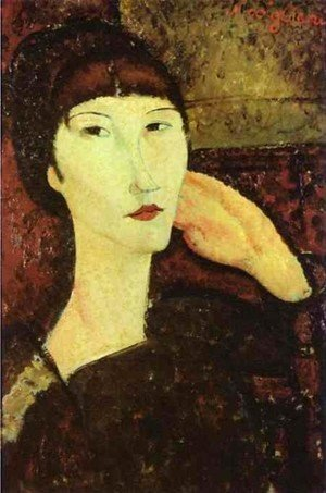 Amedeo Modigliani - Adrienne   Woman With Bangs