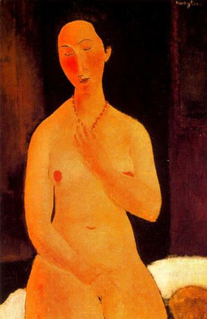 Amedeo Modigliani - Seated Nude With Necklace