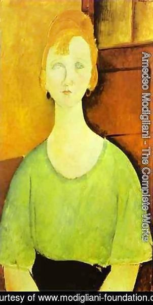 Amedeo Modigliani - Girl In A Green Blouse