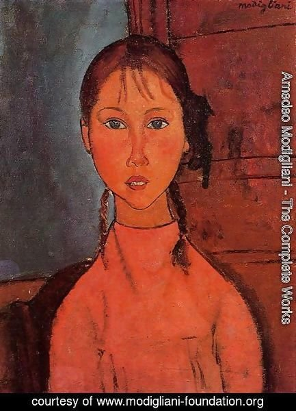 Amedeo Modigliani - Girl With Braids