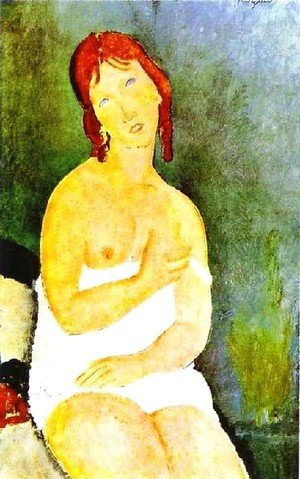 Amedeo Modigliani - Red Haired Young Woman In Chemise