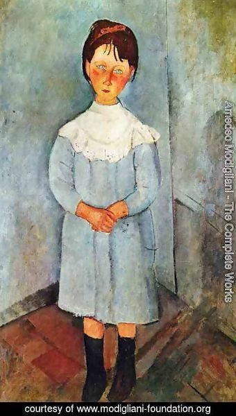 Amedeo Modigliani - Little Girl In Blue