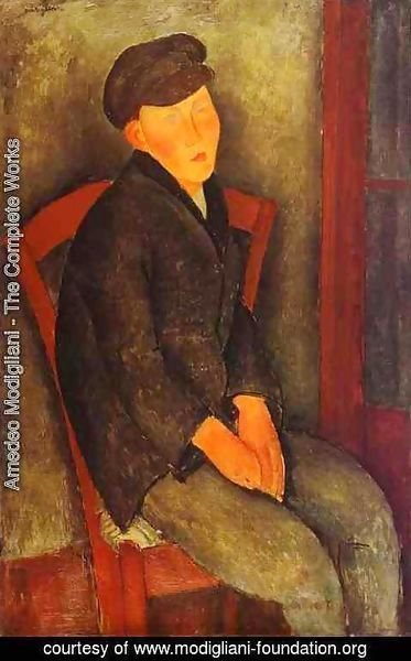 Amedeo Modigliani - Seated Boy With Cap