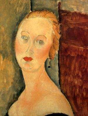 Amedeo Modigliani - A Blond Woman   Portrait Of Germaine Survage