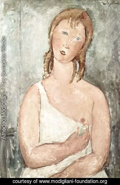Amedeo Modigliani - Girl In A White Chemise
