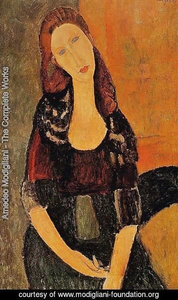 Amedeo Modigliani - Portrait Of Jeanne Hebuterne   Common Law Wife Of Amedeo Modigliani 1920