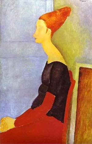 Amedeo Modigliani - Portrait Of Jeanne Hebuterne In Profile