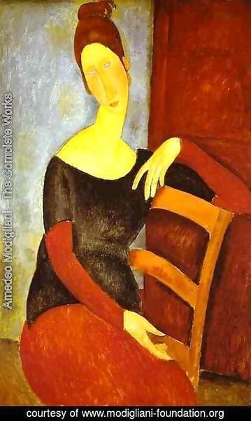 Amedeo Modigliani - Portrait Of Jeanne Hebuterne   Common Law Wife Of Amedeo Modigliani Ii
