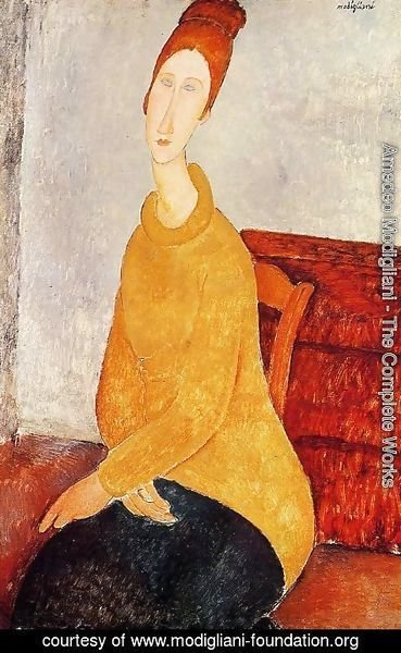 Amedeo Modigliani - Jeanne Hebuterne In A Yellow Sweater
