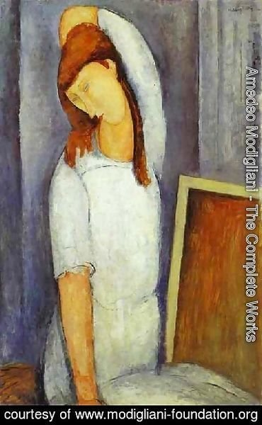 Amedeo Modigliani - Portrait Of Jeanne Hebuterne Iii
