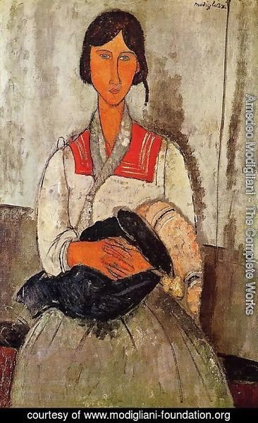 Amedeo Modigliani - Gypsy Woman With Child