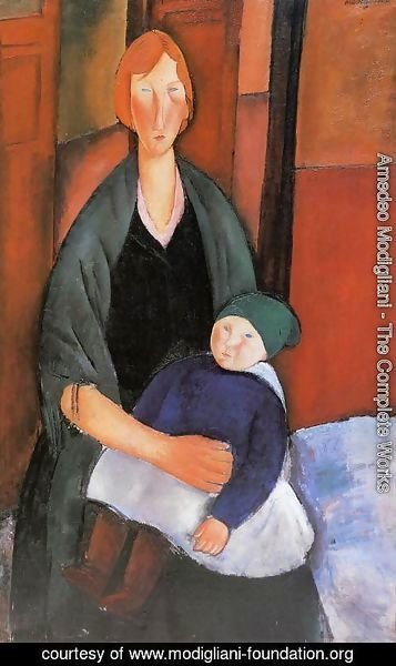 Amedeo Modigliani - Seated Woman With Child