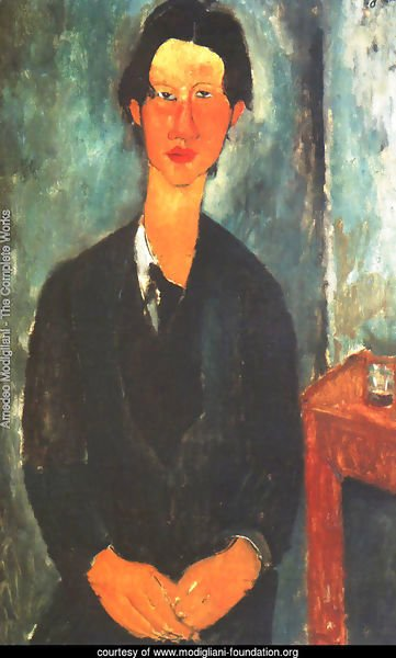 Portrait of Soutine Sitting at a Table (Ritratto di Soutine seduto a tavola)