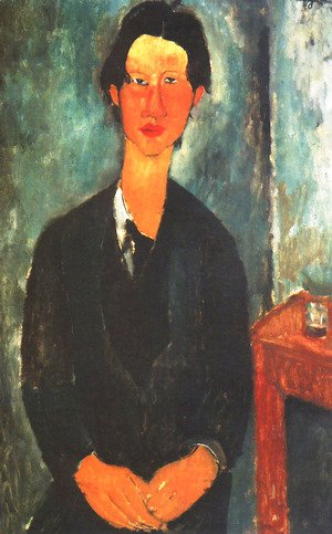 Amedeo Modigliani - Portrait of Soutine Sitting at a Table (Ritratto di Soutine seduto a tavola)